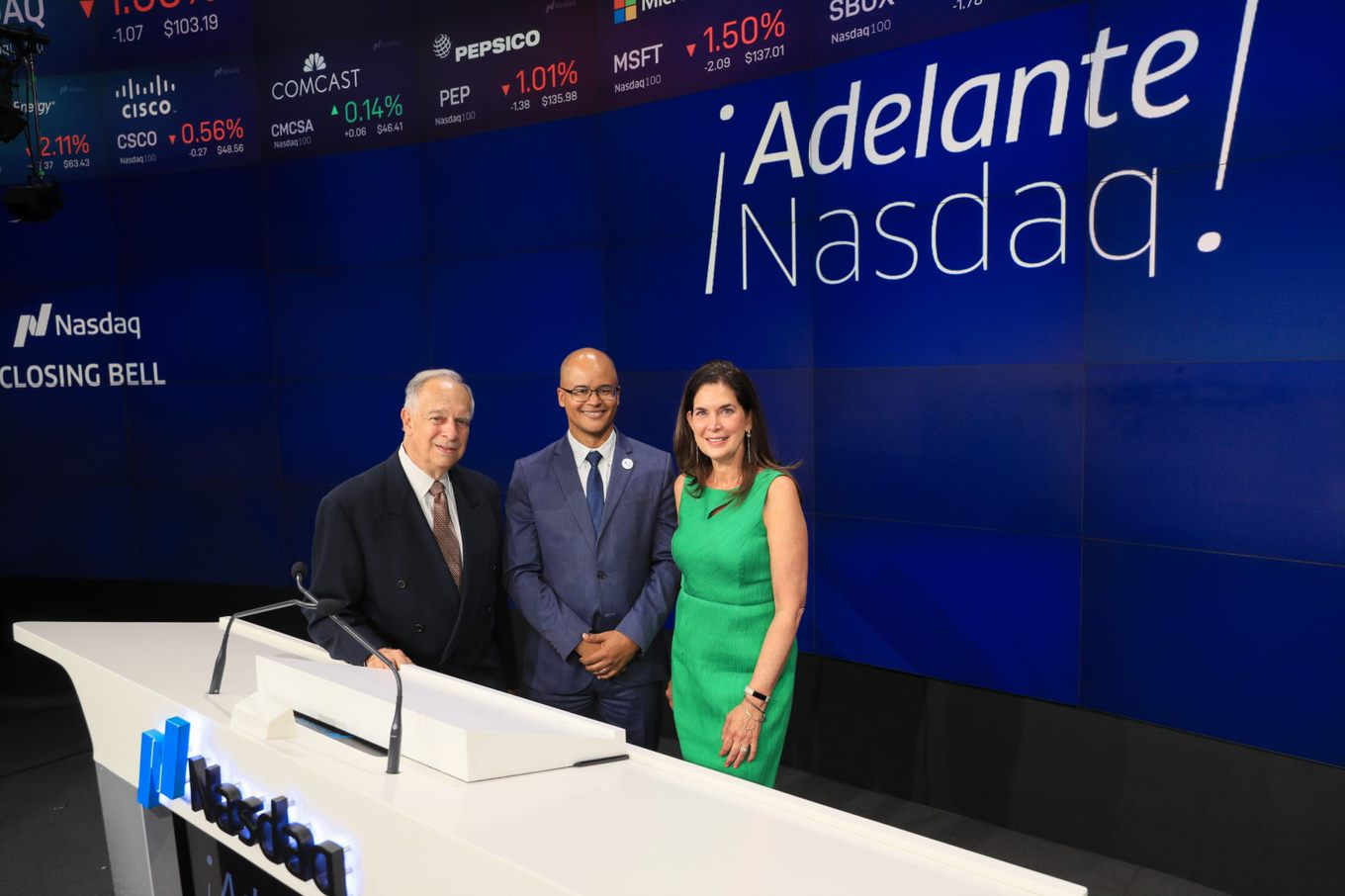 Ramon Peguero speaks on a panel hosted by Adelante Nasdaq