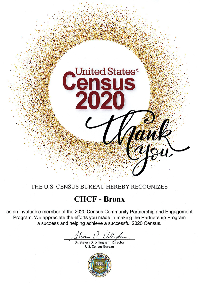 CHCF was honored by the United States Census Bureau
